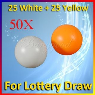 50x Washable Pingpong Ball Beer Pong Table Tennis Lucky DIP Gaming
