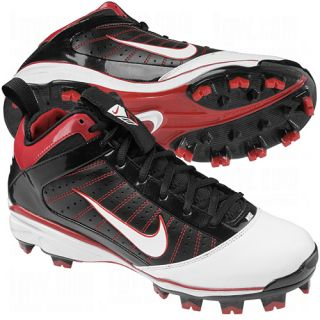 New Nike 414989 Men's Diamond Elite MCS Molded Baseball Cleats Black