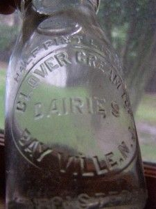 Clover Cream Top Dairies Bayville NJ Milk Bottle New Jersey