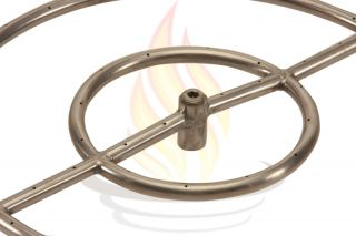 Capacity Round Stainless Steel Fire Pit Burner Ring Natural Gas