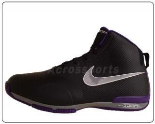Nike Zoom BB 1 5 Black Purple Fuse Tech 2011 New Mens Basketball Shoes