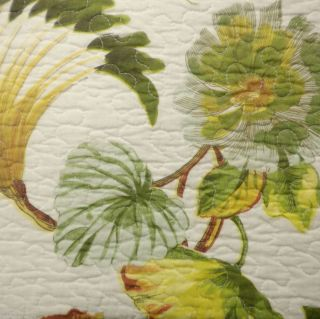 BAY LINENS MONTEGO BAY TROPICAL KING QUILT NEW BOTANICAL PALM GREEN