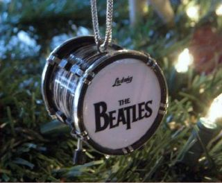 BEATLES BASS DRUM MINI X MAS DECORATION ORNAMENT FREE SHIP SALE NR