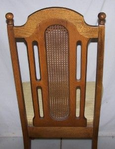 Vintage Bassett Oak Wooden Dining Room Chair w Cushion