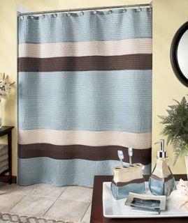 And Brown Striped Shower Curtain Modern Bath Bathroom Decor