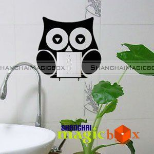 Animal Series Stickers Owl Bathroom Art Decor Decal Wall Sticker