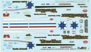 blue max mustang ii f c raymond beadle drag decal