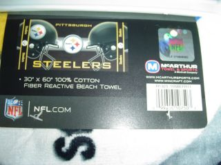 Pittsburgh Steelers NFL FOOTBALL BEACH BATH POOL TOWEL team helmets