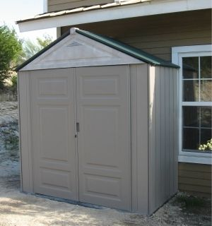 Rubbermaid 3 ft.x 7 ft. Large Resin Storage Big Max Junior Shed Mint