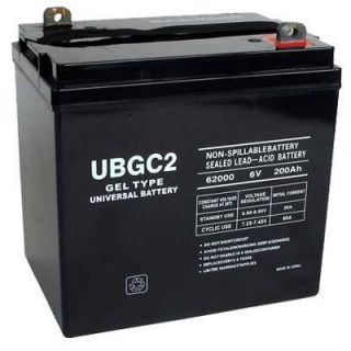 6V 200AH SLA Gel Cell Golf Cart Battery UB GC2 40703