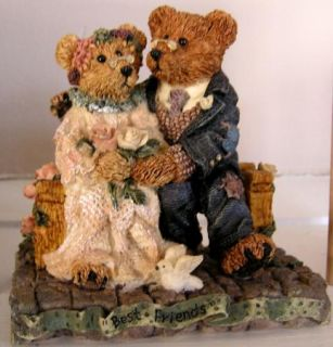 Resin Teddy Bear Grenville and Beatrice Best Friends 2016 Ret