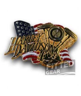 Young Mens Harley Davidson Belt Buckle Fashion American Flag