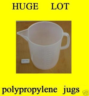 Big Lot 16 Polypropylene Beakers 5000 ml Chemical Lab