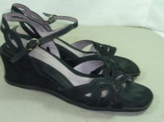 Womens Beautifeel Black Suede Comfort Sandals 39 Sz 8