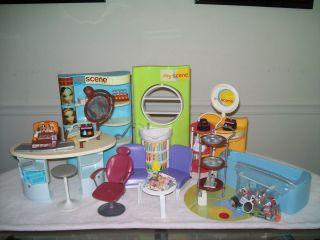 Barbie My Scene Doll Beauty So Chic Salon Boutique playset HUGE lot