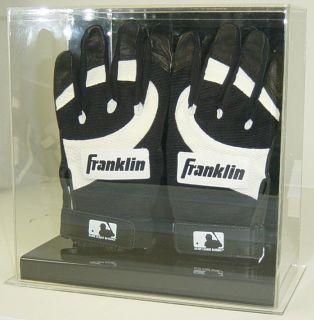 New Double Baseball Batting Gloves Display Case Holder