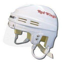 NHL Detroit Red Wings Away Bauer Mini Hockey Helmet