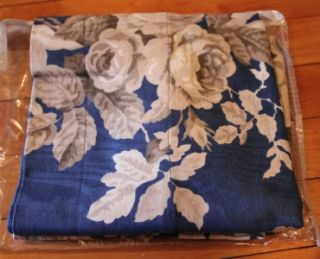 New Bay Linens Window Treatment Valance Blue Floral NIP