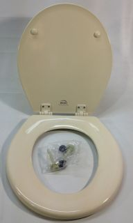 Bemis 500EC006 Molded Wood Round Toilet Seat Easy Clean Hinge Bone