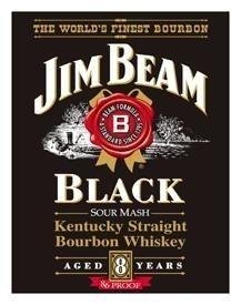 Jim Beam Black Label Vintage Metal Sign $9 SHIP