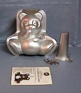 Wilton 3D STAND UP CUDDLY BEAR PANDA Cake Pan Set Mold + Box Inst Core