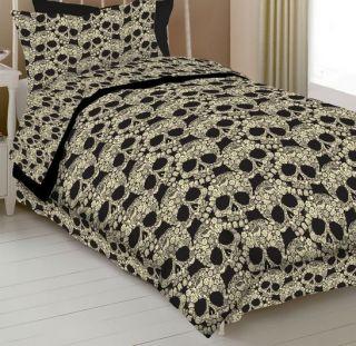 A6 Floral Flower Skull Sugar Skeleton Sheet Set Bedding Choose Size