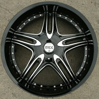 22 Black Rims Wheels Mercedes S500 S550 CL500 22 x 8 5 5H 35