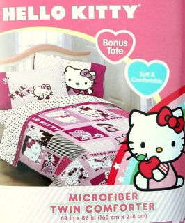 Hello Kitty Collage Twin Comforter Sheets 4pc Bedding