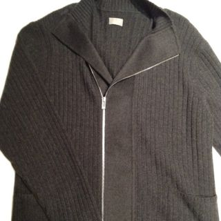 TSE Charcoal Grey Cashmere Mens Zip up Jumper NEVER BEEN WORN