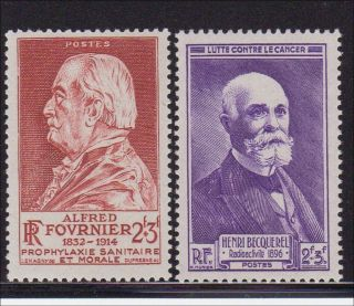 B201 2 MNH Alfred Fournier Henri Becquerel Cancer Sanitation