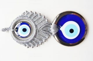 Macrame Wall Hanging Amulet Wall Decor Handmade Evil Eye Bead