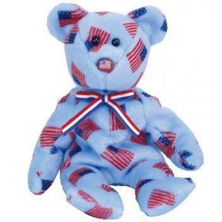 Ty Beanie Baby Union The Bear w USA Flag Nose 8 5 inch MWMTS