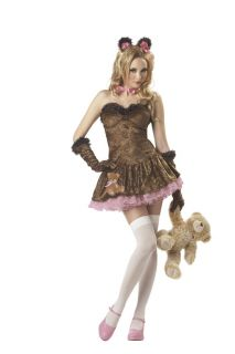 New Women Sexy Teddy Girl Adult Bear Tease Costume