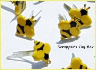 Tiny Bumble Bee Brads Summer Bugs Spring Scrapbooking Card Making