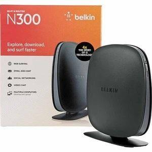 Belkin N300 Wi Fi Router High Speed Window XP Vista 7 Mac OS x V10 5