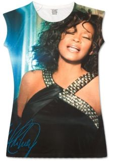 Whitney Houston Hallway Sublimated Official Babydoll Slimfit T Shirt