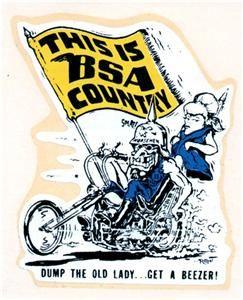 Ed Big Daddy Roth BSA Country Beezer Original Rat Fink Decal Sticker