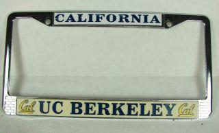 Vintage Cal UC Berkeley License Plate Frame California Alumni Student