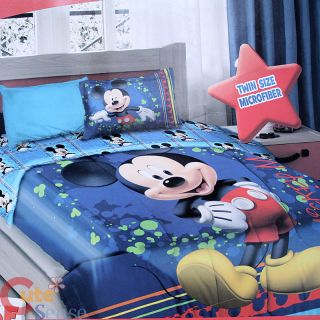 Mickey Mouse 3pc Twin Bedding Comforter Set   Mickey Flight Academy