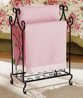 Quilt Rack Display Holder Black Metal Floor Stand New