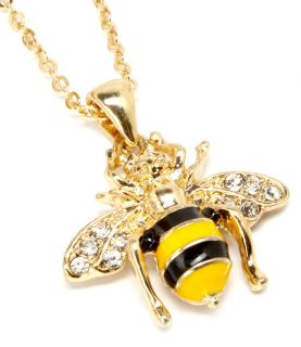 Bumble Bee / Honey Bee Fashion Necklace   gold Tone