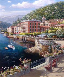 Sam Park Lakeside at Bellagio COA Hand Signed Fine Art Limited
