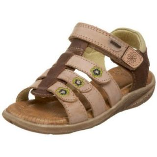 Beeko Dacey Tan Flower Kids Infant Children Shoes Velcro Sandal Girl