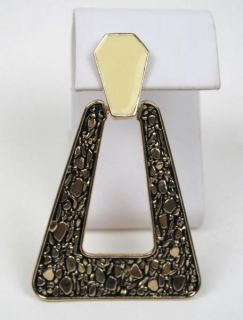 Belle Noel by Kim Kardashian NEW14K Gold Plated Large Nugget Earrings