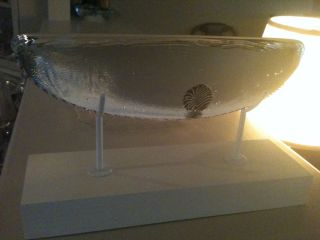 Bertil Vallien OOAK Artist Model Crystal Art Glass Boat Sculpture