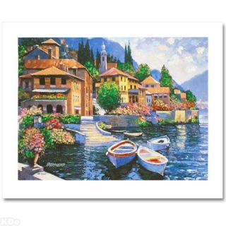 Howard Behrens Lake Como Landing Embellished w COA