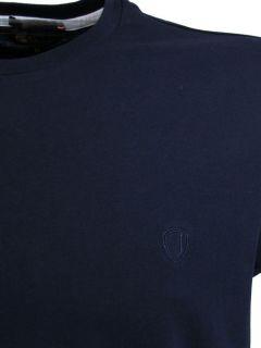 ben sherman mens t shirt plain logo crew neck mod price £ 14 99