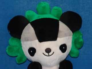 2008 Beijing Olympic Mascot Anime Plush Black White Green Panda