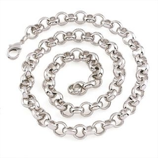 18K White Gold Filled Belcher Chain Necklace N 165