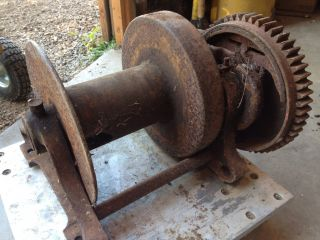 beebe bros brothers 5 ton hand crank cable winch